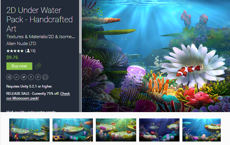 2D Under Water Pack - Handcrafted Art