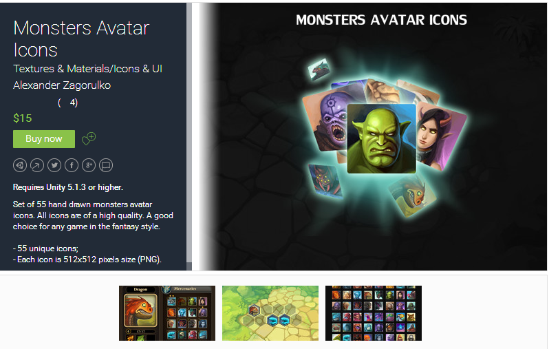 Monsters Avatar Icons