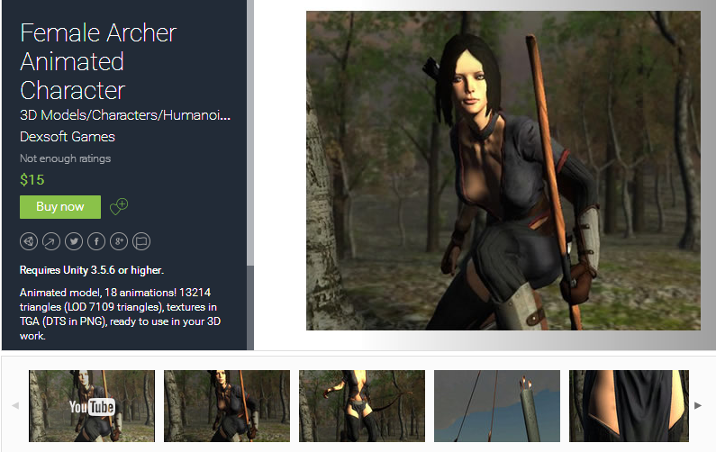 Female Archer Animated Character