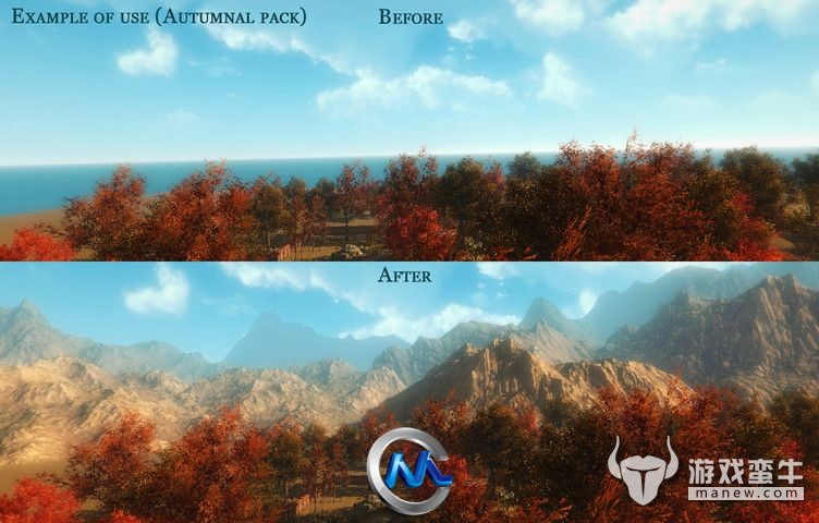 Unity3D山脉场景素材包 Unity3D Background Mountains Pack(包含解压包密码)